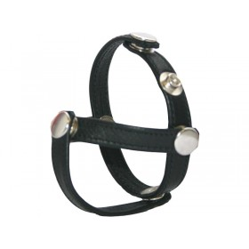 Leather Cock Ring/Strap 3 Piece Divider