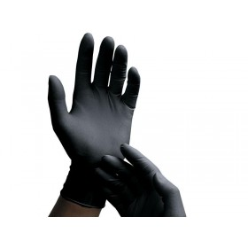 Black Latex Gloves - 100 Pack - Medium