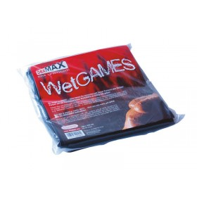 Wet Games Black Latex Sex Sheet